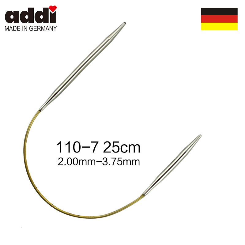 Addi 110-7-25cm Circular Knitting Needles Socks/Sleeve