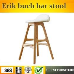 Бесплатная доставка U-BEST современный дизайн Реплика мягкая кожа сиденье 4 ноги деревянный барный стул