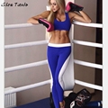 Women Clothing Set Suit Crop Top+ PantsTwo-piece Outfit Workout Women Ropa Mujer #2628