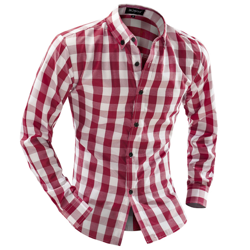 Red and white shirt mens artee shirt for Red and white plaid shirt mens