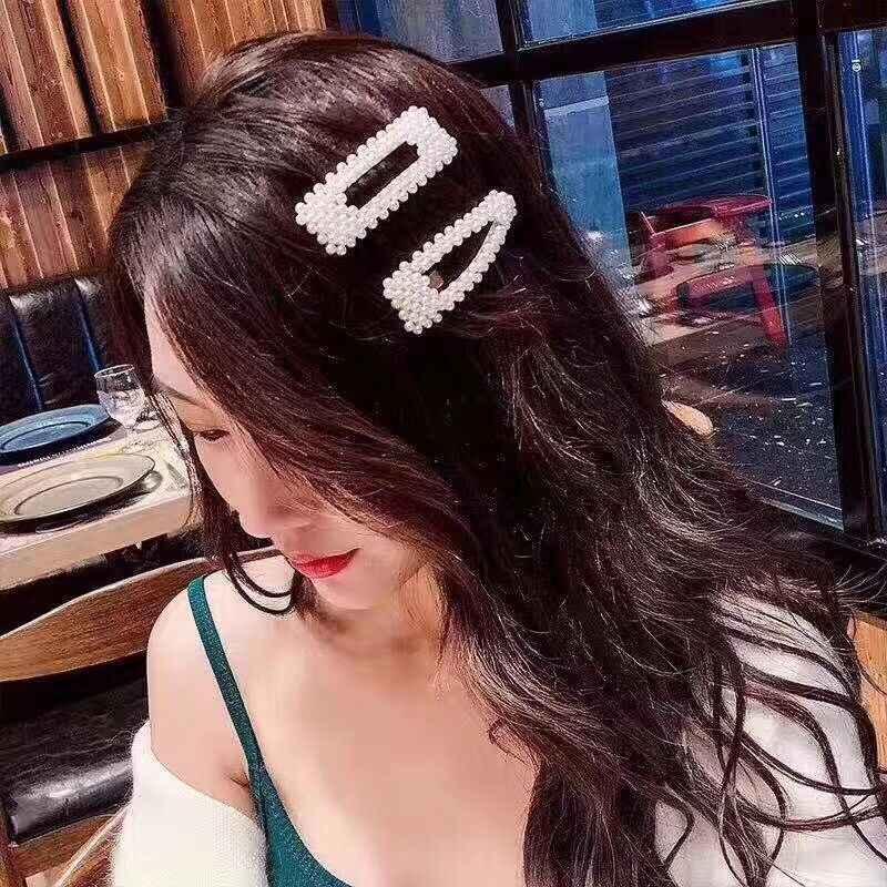 2019 Популярная мода горячая Распродажа девушки имитация жемчуга бусины BB заколки невидимки для волос Простые Модные Шпильки женские роскошные милые заколки для волос