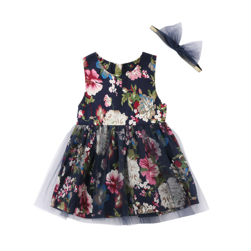 Cute Toddler Kids Girls Floral Lace Tutu Tulle Party Dress Summer Vestidos Baby Girl Party Wedding Princess Dresses Clothing mottelee girls princess dress blue kids party tutu dresses birthday summer baby outfits floral toddler frock children clothing