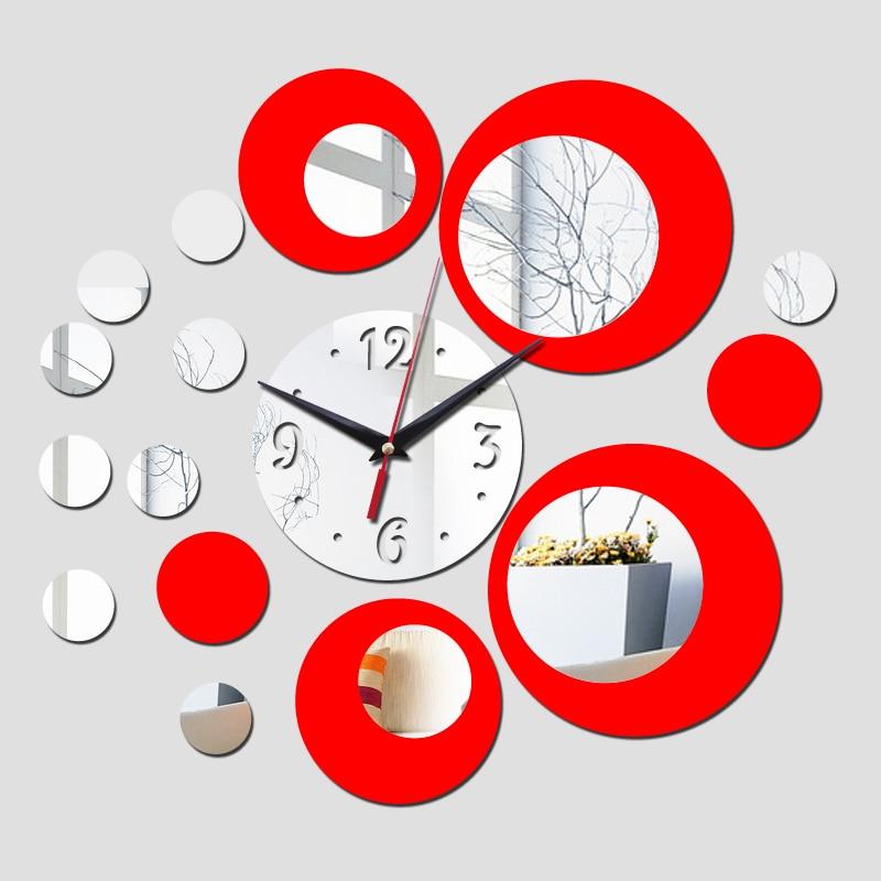 Wall Clock Watch Quartz Acryli Mirror Modern Wall Stickers 3D Arrival  Design Luxury Cllocks Living Room Decration