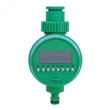 Автоматический таймер полива сада электронный ЖК-дисплей домашний шаровой клапан водяной таймер с регулируемой капельницей контроллер системы