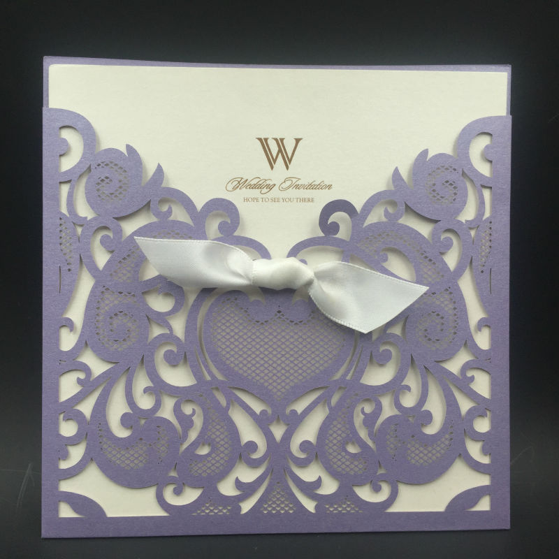 Pearl And Lace Wedding Invitations: Factory Wholesale Wedding Invitation Card With Pearl And
