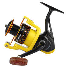 YUYU Metal Fishing Reel Spinning Reel metal spool 500 1000 2000 3000 4000 5000 6000 7000 12BB Ratio 5.2:1 Fishing Tackle цена 2017