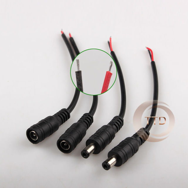 free shipping 5pcs female 5pcs male 5 5 x 2 1mm dc power connector rh aliexpress com  dc power plug wiring diagram
