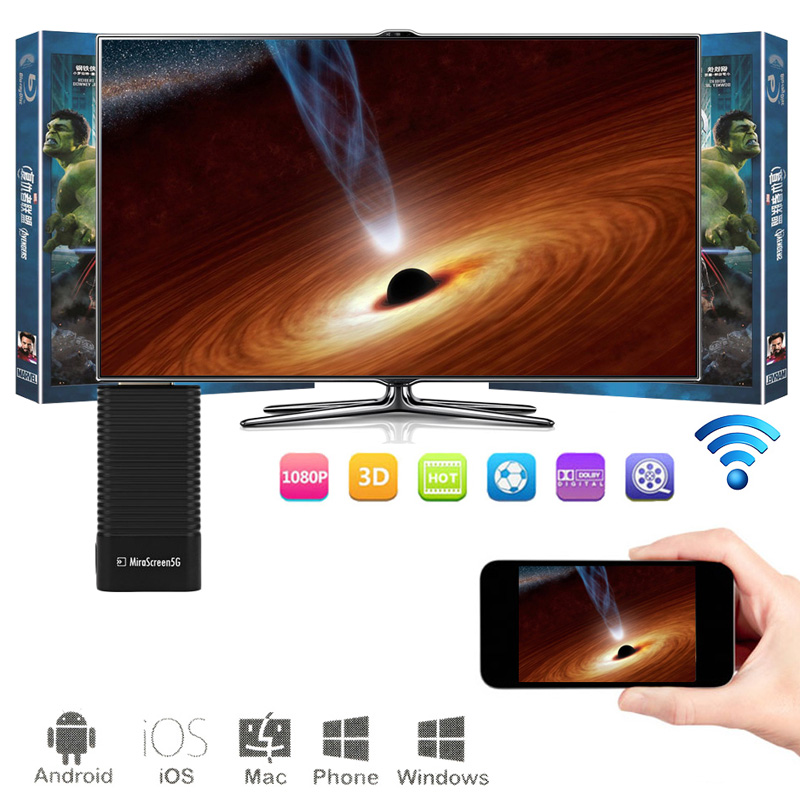 1pcs MiraScreen 5G TV Stick  Wireless Display Dongle Miracast Airplay DLNA HDMI Receiver for