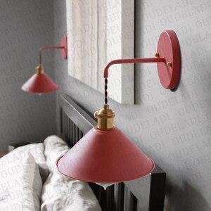 Image 2 - נורדי מודרני קיר אור מטריית מסעדה קישוט Macarons קיר מנורת סלון חדר שינה מעבר מדרגות המיטה בית תפאורה