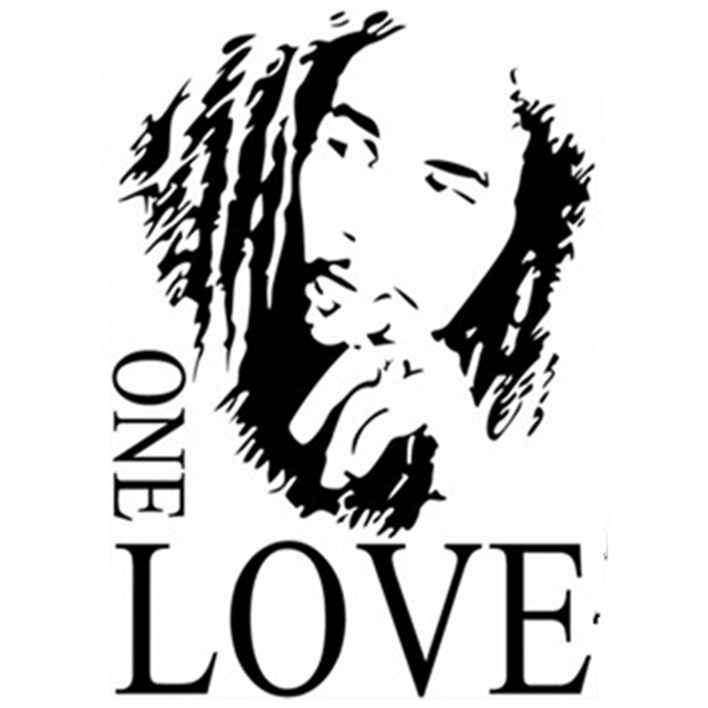 8f767233d14c Bob Marley emoji wall stickers quotes One Love English vinyl decal home  decorations for living room vintage poster free shipping
