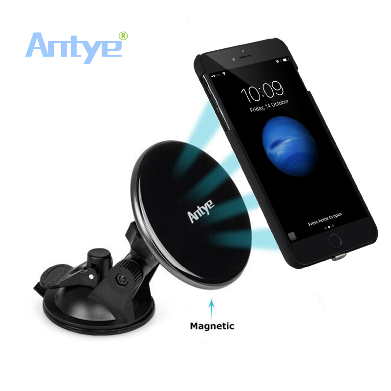 Magnetic Qi Wireless Car Charger Dock/Pad Stand Holder For iPhone 7/7 Plus,Included Qi Charger Receiver Phone Cover Case