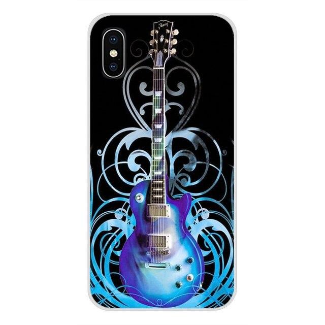 جيبسون الغيتار الموسيقى الصوتية ل شياو mi mi 4 mi 5 mi 5S mi 6 mi A1 A2 5X6X8 9 لايت SE برو mi ماكس mi x 2 3 2S هاتف محمول حالة يغطي