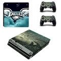 NFL Philadelphia Eagles PS4 Delgada Piel de la Etiqueta engomada Para Sony ps4 playstation 4 consola slim y 2 controladores ps 4 pegatinas