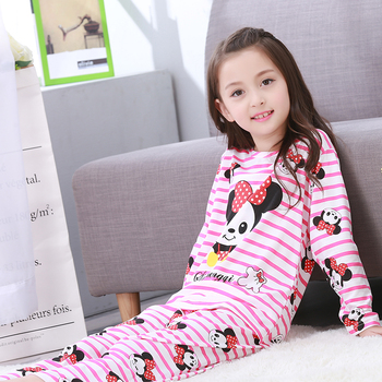 New Listing 2018 Children Clothing Autumn Pyjamas Girls Baby Pajamas Cotton Princess Nightgown Kids Home Cltohing Girl Sleepwear Sleepwear & Robes