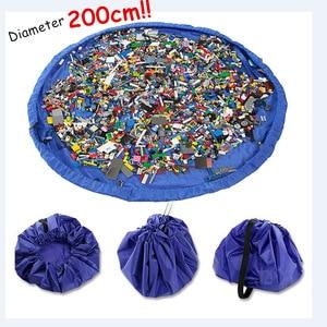 Image 1 - Przenośny 78 Cal duży mata do zabawy dla dzieci Playmat wielofunkcyjny samochód torba na zabawki organizator rodzinny piknik maty do zabawy 200 CM