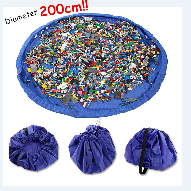 Przenośny 78 Cal duży mata do zabawy dla dzieci Playmat wielofunkcyjny samochód torba na zabawki organizator rodzinny piknik maty do zabawy 200 CM