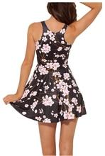 Pink Plum Print Pleated Summer Mini Dress