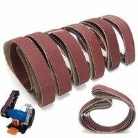 DWZ 6pcs 1800 50mm Sanding Belts 36 40 60 80 120 150 Grit Sander File Polishing