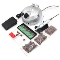 Professional Nail Polisher Tools Nail Art File Bits Manicure Kit 35000 RPM 110V 220V Silver Electric