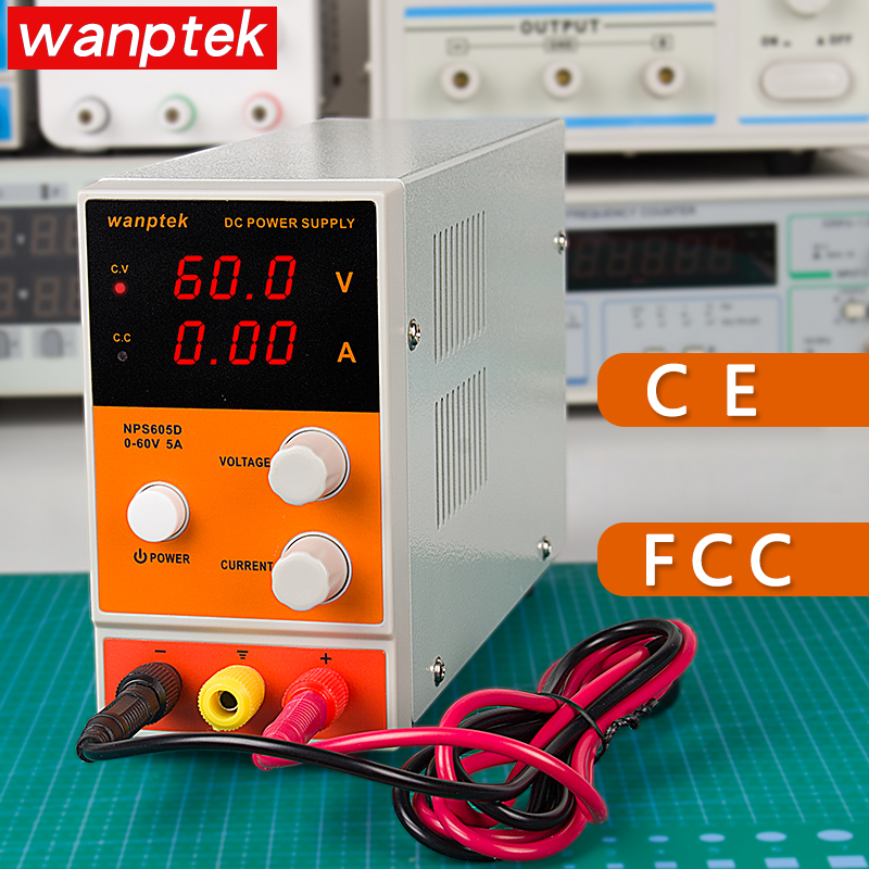 Wanptek DC Power Supply LCD Digital Display Voltage Regulator Continuous Adjustable Laboratory Switching Power Source