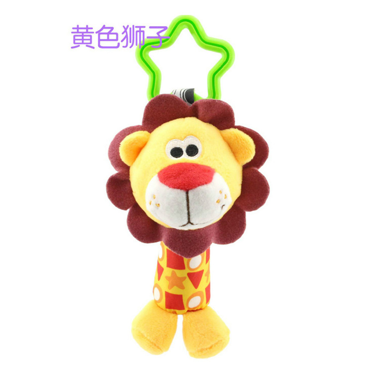 Children Plush Toys Colorful Animal Hanging Bed Crib Stroller Appease Dolls Rattles Grasping Toy Boy Girl Baby Kids Gift FL