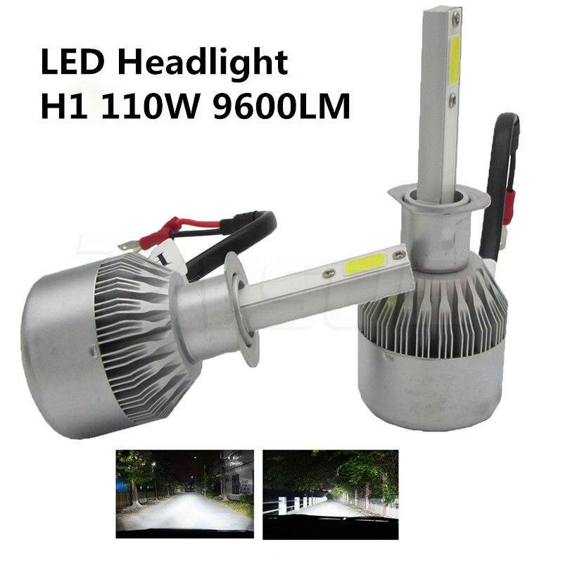 2x H1 55 Вт фары автомобиля conversion kit Противотуманные дальнего удар источника света светодиодные фары белый 6000 К 9200LM с чипом cree