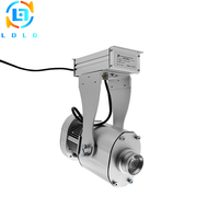 Silver 40W LED Gobo Logo Projector Shop Mall Advertising Indicate Sign 4500lm LED Rotary Image Projection Lamp Light Indoor Ip65