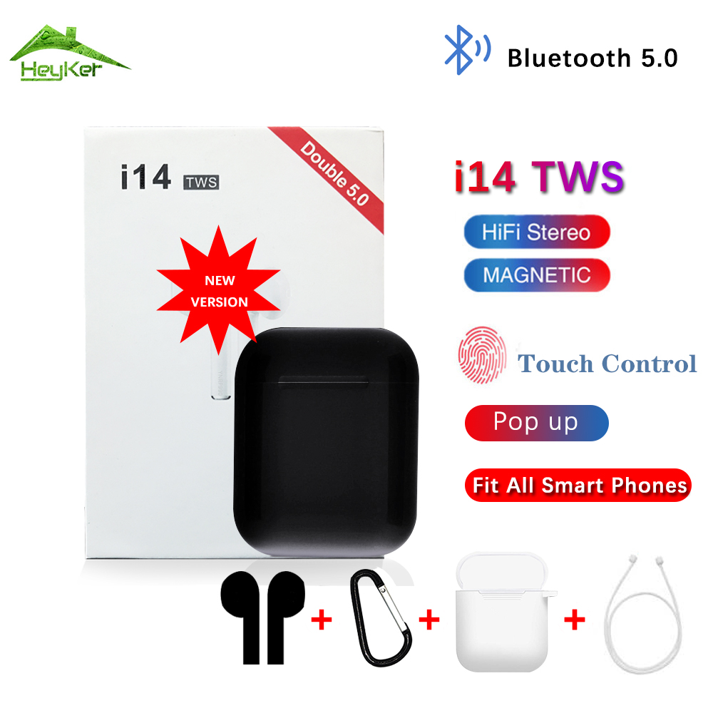 New I14 Tws Mini Wireless Bluetooth Earphones Earbuds Headsets Touch Control Bleutooth Sports Headphones In Ear Phones Audifonos