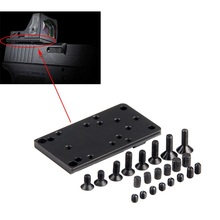 Glock Universal Mount Rear Sight Plate Base Red Dot Compatible for Real fire Caliber