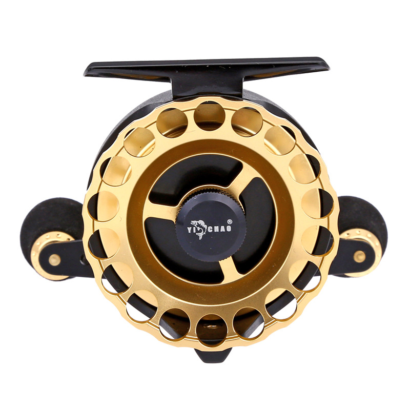 New Product KKD65 Gear ratio 4.3:1 Aluminum Front-end Fishing Left/Right Hand Fly Fishing Reel Raft Ice Fishing Reel