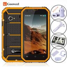 Новый Gooweel GW6000 Android6.0 IP68 Водонепроницаемый Смартфон Quad Core 4.5 дюймовый IPS Корилла Стекло открыл Мобильный сотовый телефон 8MP GPS