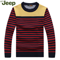 New listing Jeep Fashion winter slim style Pullovers men Casual Men sweater o-neck stripe knit pullover sweater Large Size 95