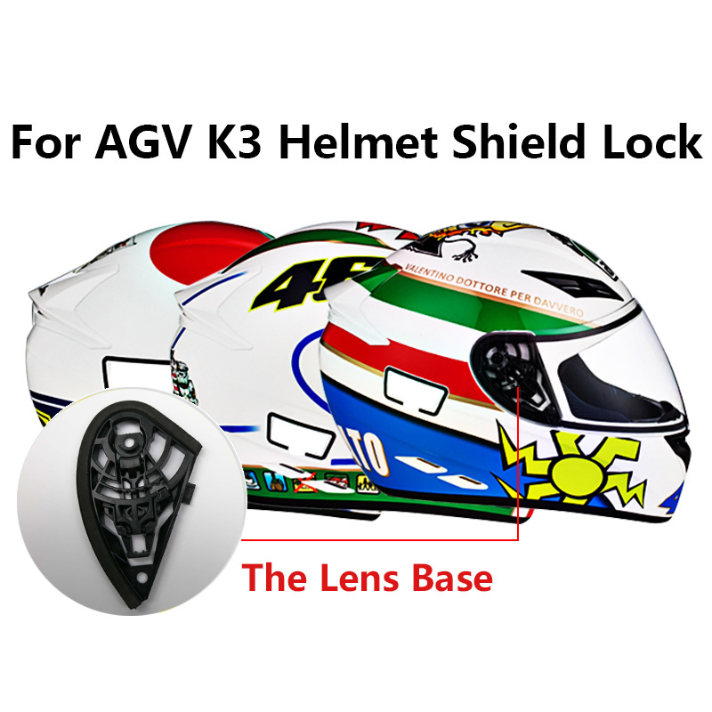 1 pair Original Part for AGV K4 Full face motorcycle helmets For AGV K3 moto HELMET Shield pivot Kit not for agv k3 sv & k5