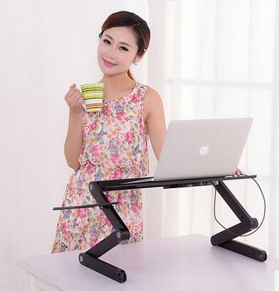 Laptop desk with simple folding aluminum dormitory bed lazy small study desk fashion simple multi function folding bed dormitory lazy little table with a university student dormitory desk notebook