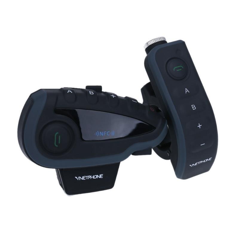 5 Coureurs Étanche Bluetooth Casque Interphone Numérique Duplex En Temps Réel Sports de Plein Air Interphone Écouteur w/FM Radio Fonction