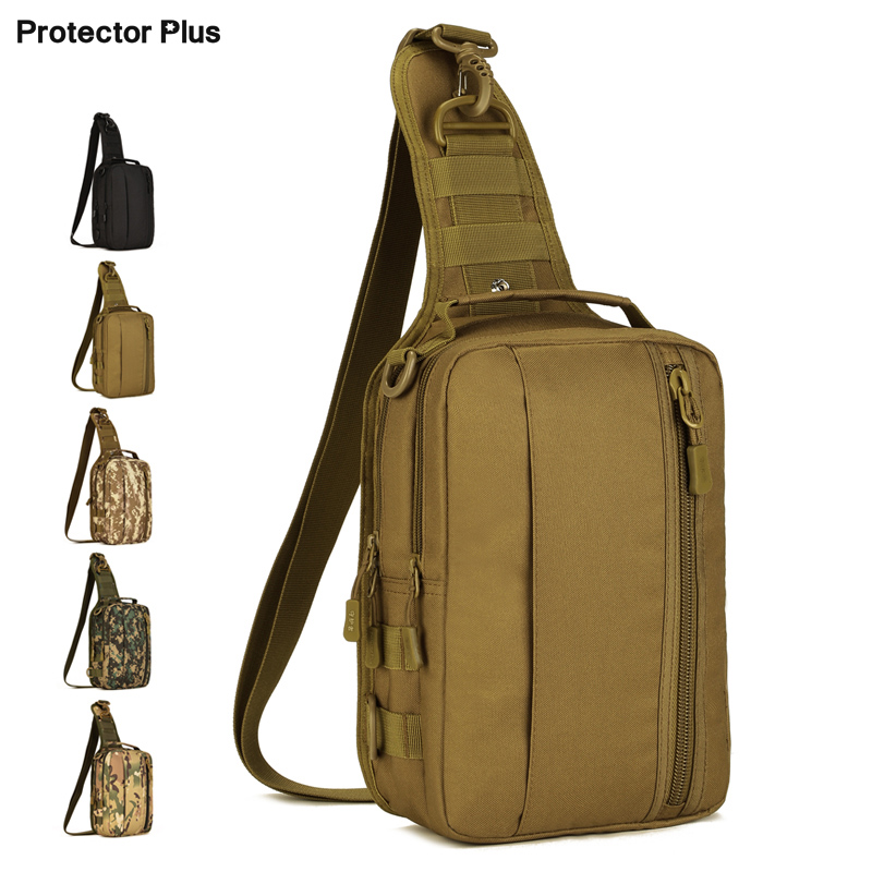 Outdoor Waterproof Chest Bag Multi-Purpose Military Molle Single Shoulder Bag Motorcycle Bicycle Climbing Tactical Pack