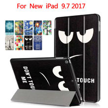 "For New ipad 9.7 2017 PU Leather Smart Tablet Case Cover Shockproof Colorful Print Protective Stand for Apple iPad 9.7"" Ynmiwei"
