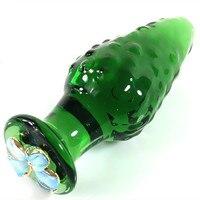 Vetro verde Perline Anali Butt Plug In Giochi Per Adulti Per Le Coppie Erotici Ano Giocattoli Del Sesso Per Le Donne E Gli Uomini
