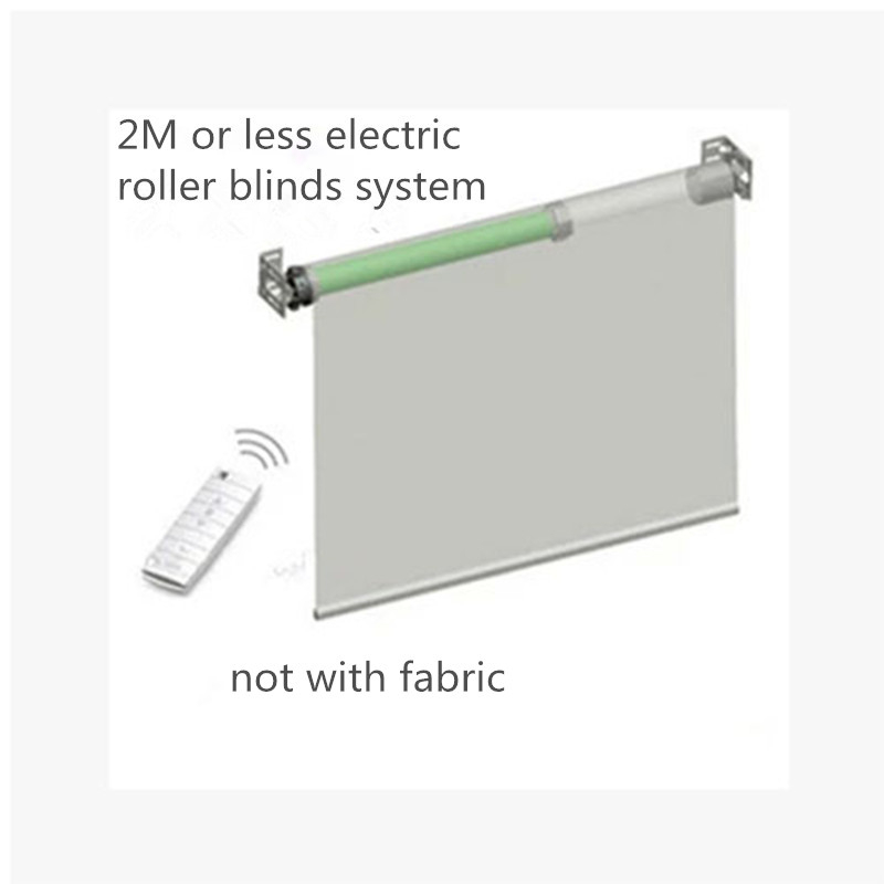 Ewelink 2m Width Elecric Customizable Roller Blinds System With Dooya Tubular Motor DM35S/35R Without Fabric For Smart Home