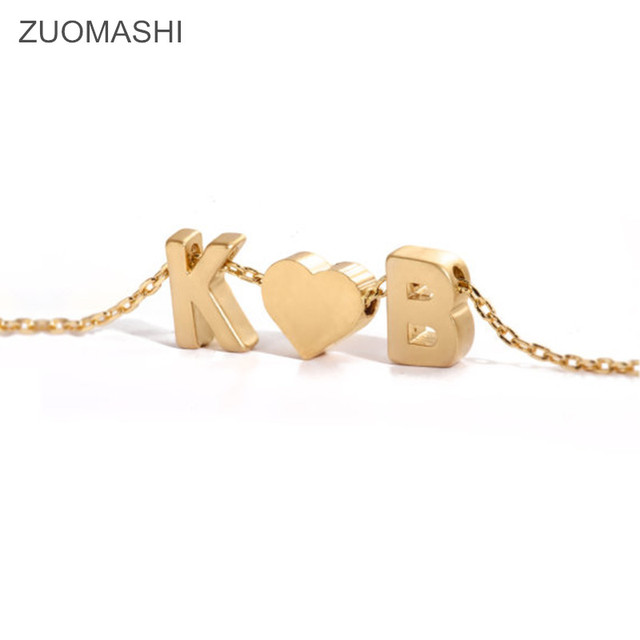 Tiny gold initial and heart necklace double letters name necklaces tiny gold initial and heart necklace double letters name necklaces pendant for women girls st aloadofball Images