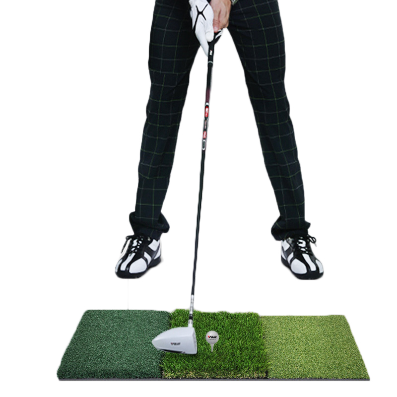 Backyard Golf Mat 90*40cm Durable Residential Training Hitting Pad Practice Rubber Tee Holder Indoor Outdoor Golf Training Aid 30x300cm wood indoor golf putting trainer professional practice set training mat mini golf putter green with fairway free ball
