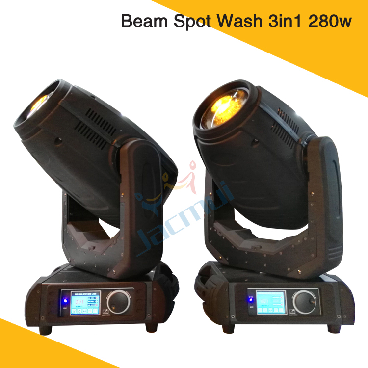2Pcs/Lot 280W 10R Osram Bulb DMX Zoom Spot Beam 280w Moving Head Wash Stage Light
