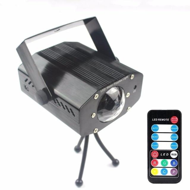 Grnflash led projetor de 7 cores, luz de palco, efeito de água, lâmpada laser, auto flash, led, ativado por som, para discoteca, dj, festa, palco luzes para iluminação