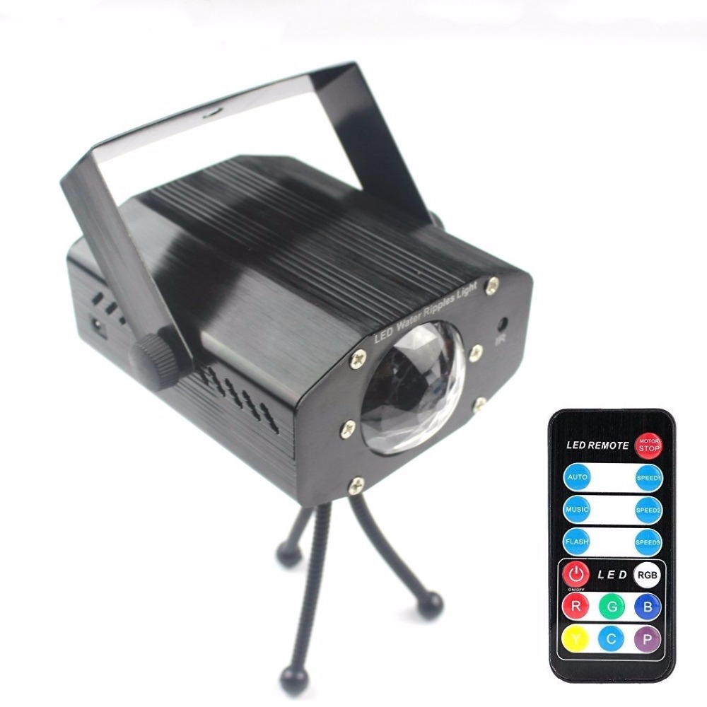 Grnflashing LED Stage Light 7 Color Water Effect Laser Projector Lamp Auto Flash Sound Activated LED Disco Dj Party Stage Lights