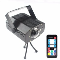LED Stage Light 7 Color Water Wave Ripples Laser Projector Lamp Auto Flash Sound Activated LED