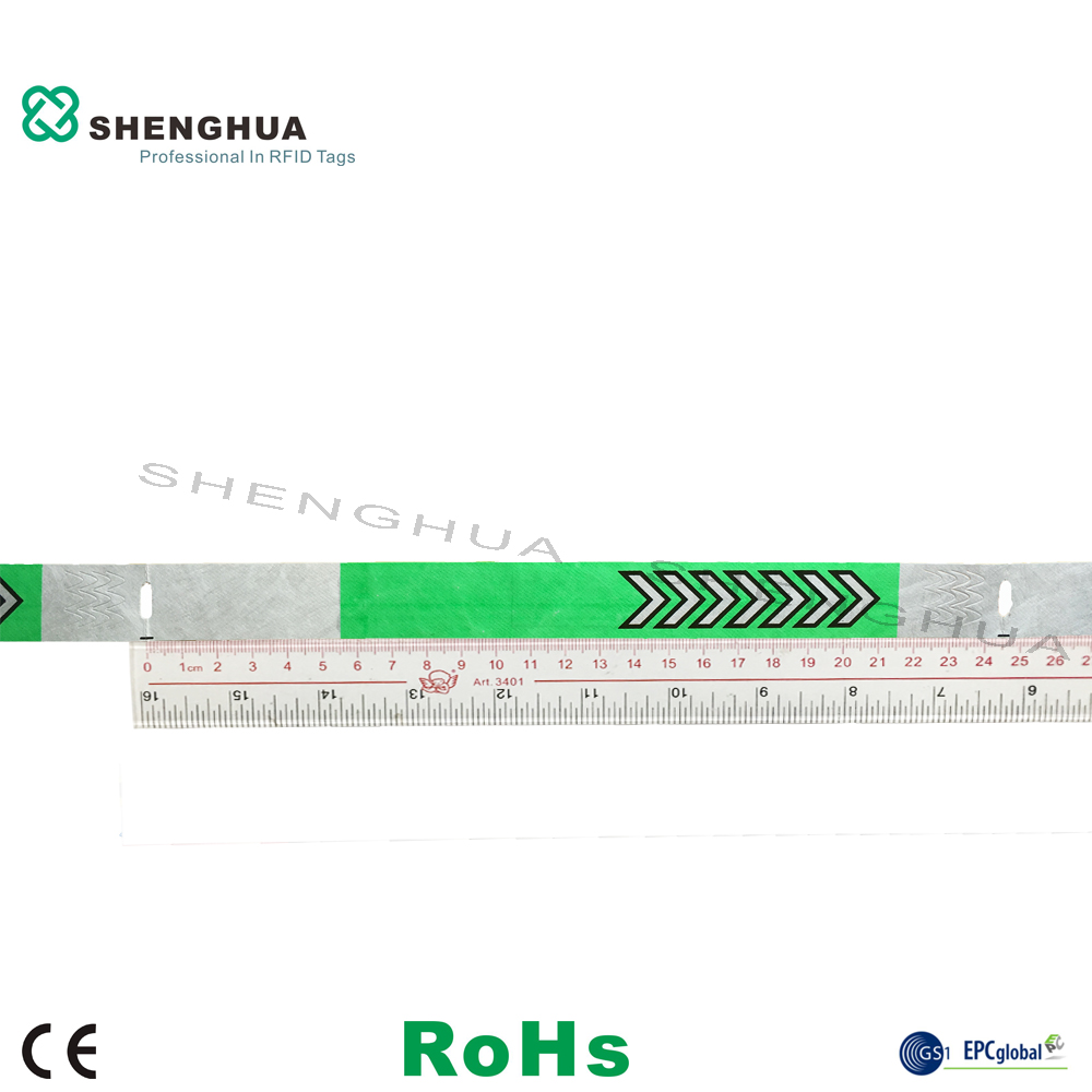 Promotion 200pcs OEM Alien H3 Bracelet Dupont Paper Waterproof Rfid Wristband Tags For School Trips