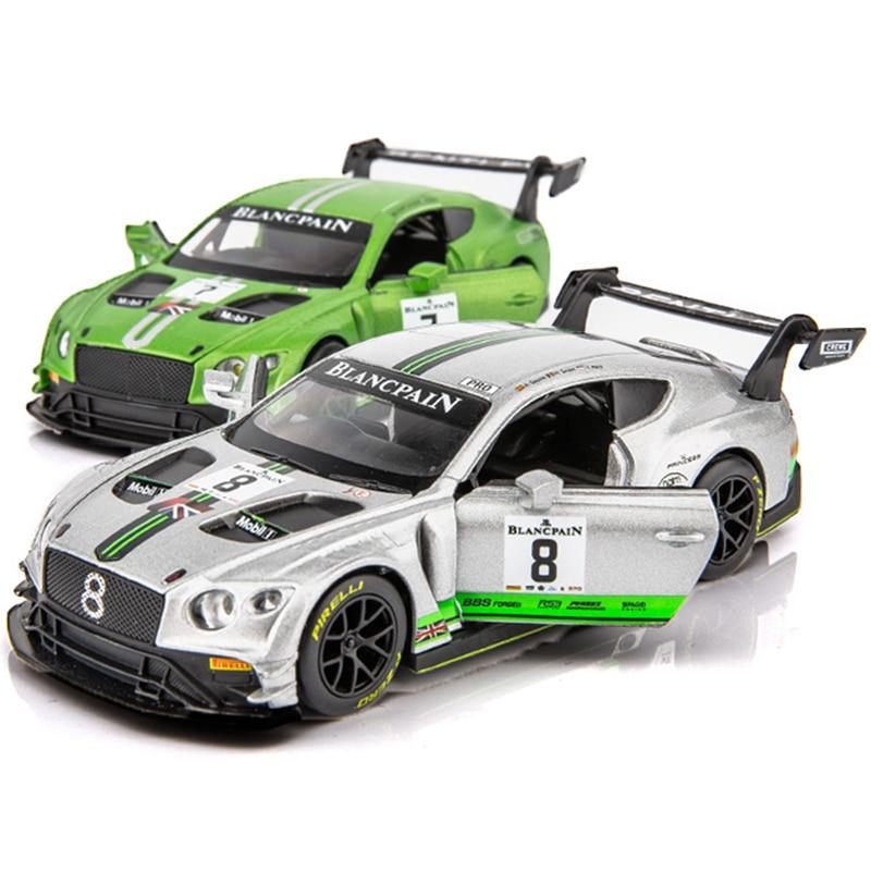 GT3 Escala 1:32 Modelo de Carro de Corrida Brinquedos Veículo Simulação Diecast Pull Back Liga Brinquedo Do Carro Automático Com Som & Luz para Os Presentes Dos Meninos