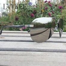 HOT Luxury Brands logo Aviator sunglasses Polarized Men women Driver Mirror Polaroid rays HD Rimless sunglasses night vision c10