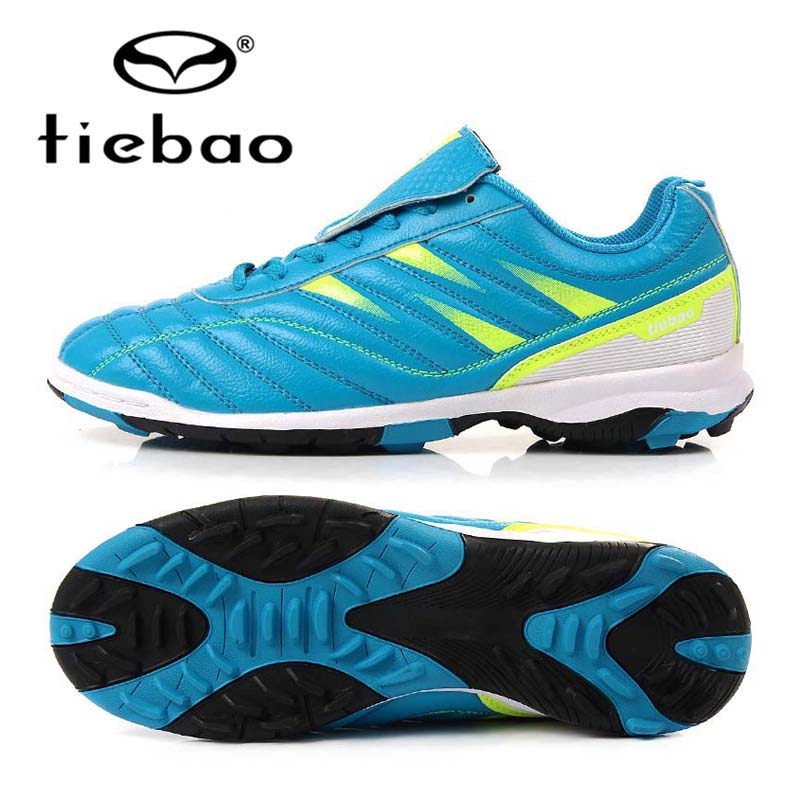 TIEBAO Brand Professional Soccer Shoes Outdoor Football Boots TF Turf Sole Training Sneakers For Kids Childrens