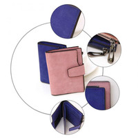 New Women Wallets Fashion Scrub Leather Lady S Design Card Holder Coin Purse High Quality